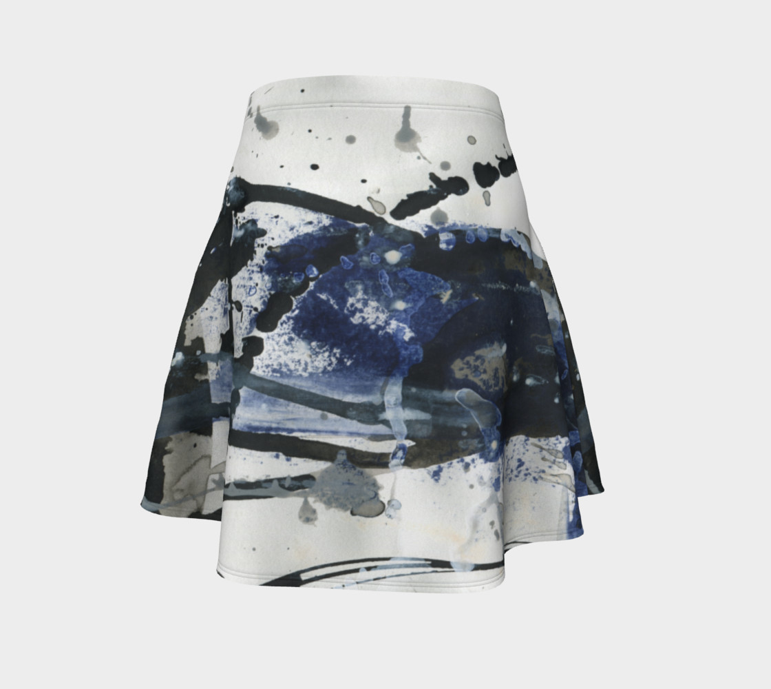 Black, White, and Blue Flare Skirt preview #4