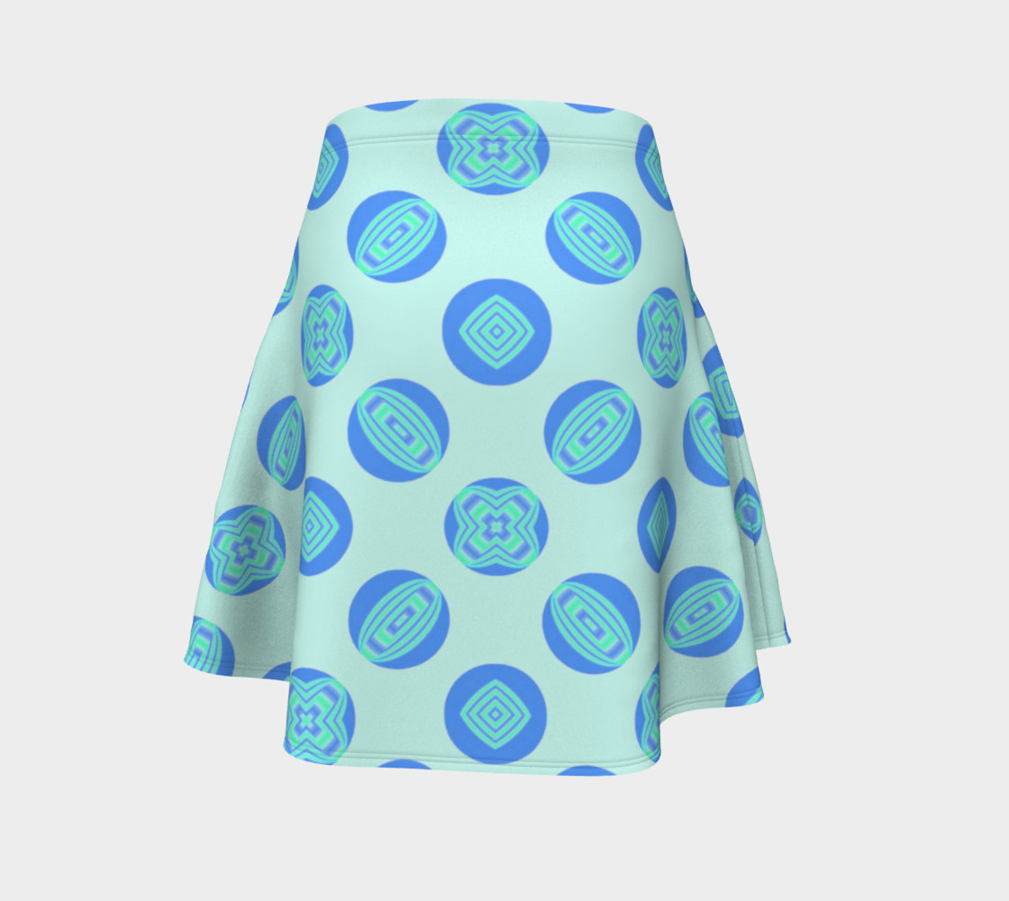 Retro Turquoise Blue Circles Pattern  preview #4