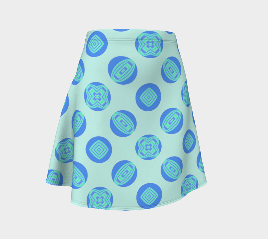 Retro Turquoise Blue Circles Pattern  preview #1