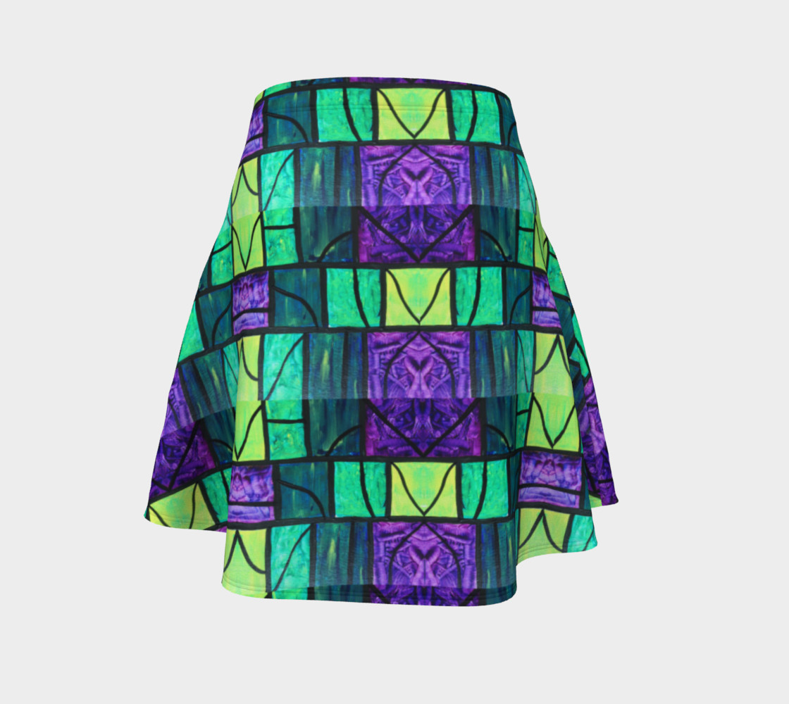 Nouveau Garden Stained Glass Flare Skirt  preview #4
