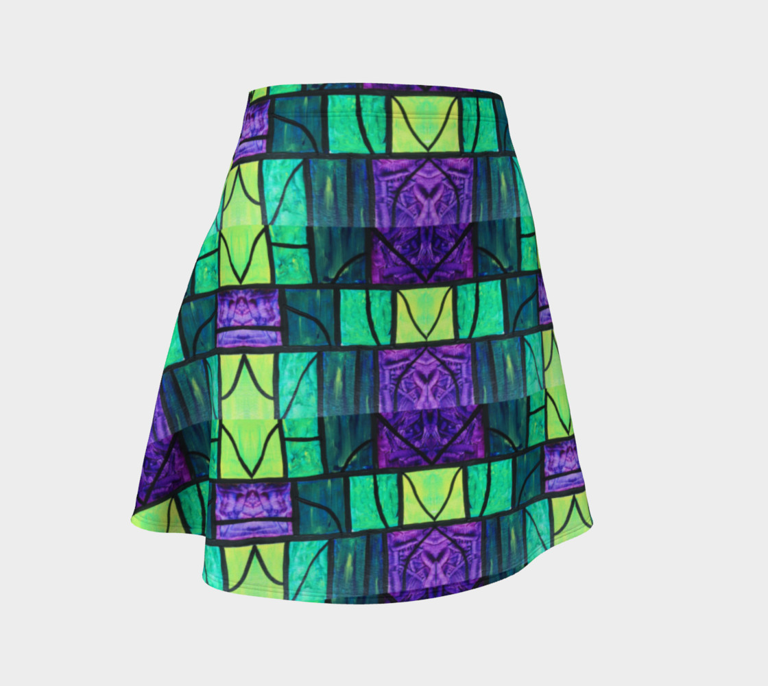Nouveau Garden Stained Glass Flare Skirt  preview #1