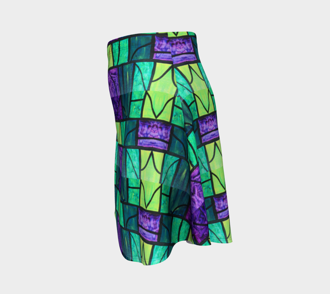 Nouveau Garden Stained Glass Flare Skirt  preview #2