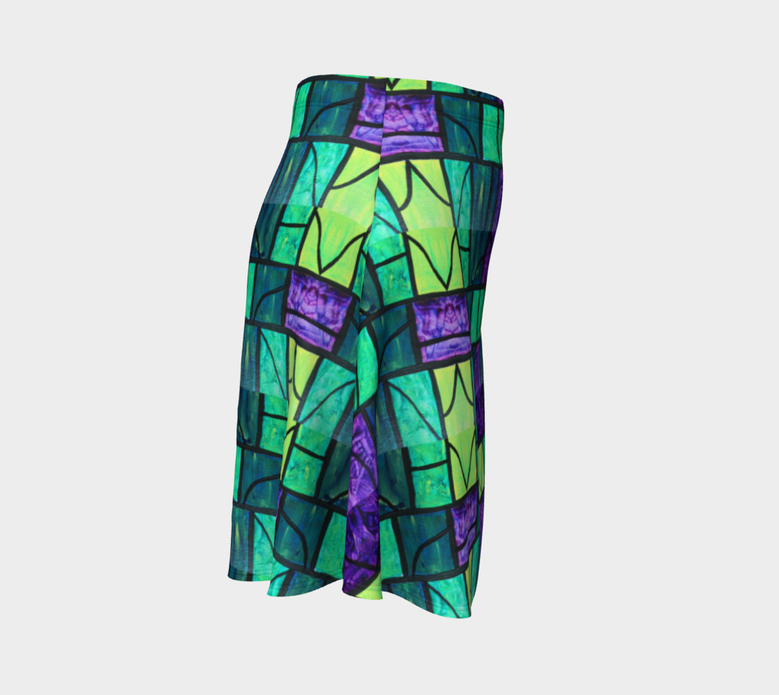 Nouveau Garden Stained Glass Flare Skirt  preview #3