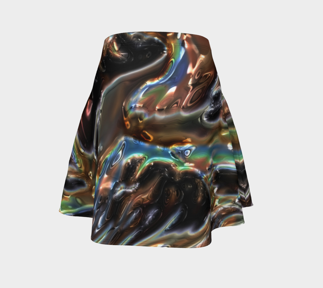 Iridescent Copper Flare Skirt preview #4