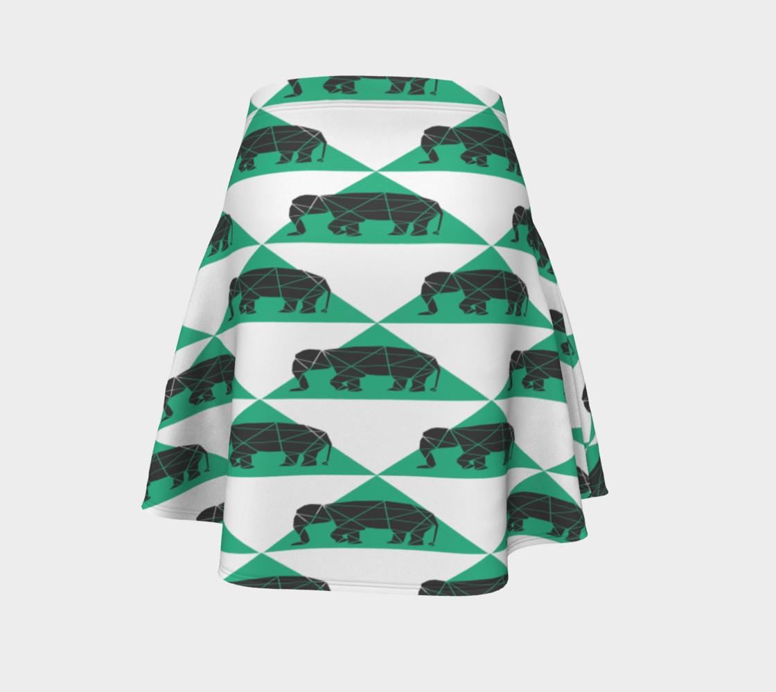 Aperçu de Geometric Elephants Skirt #4