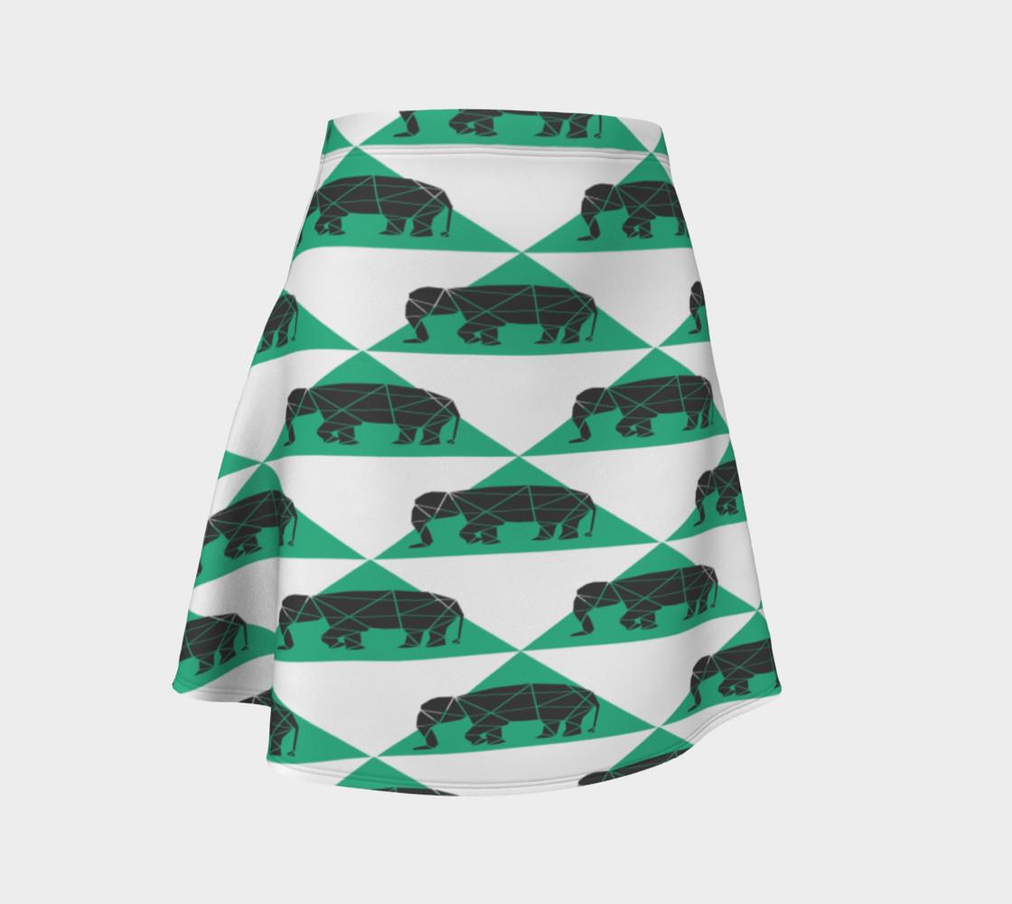 Aperçu de Geometric Elephants Skirt #1