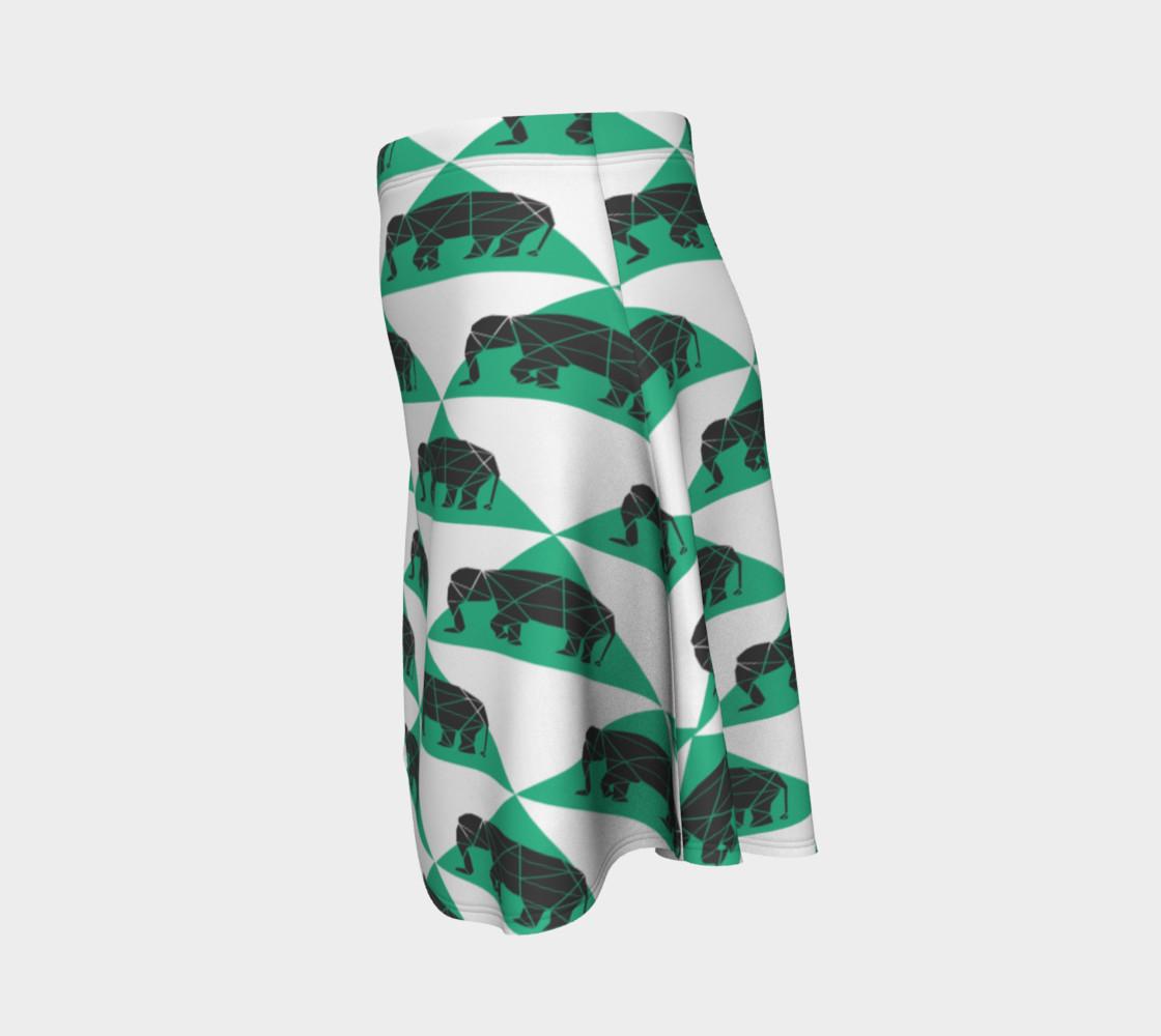 Aperçu de Geometric Elephants Skirt #2