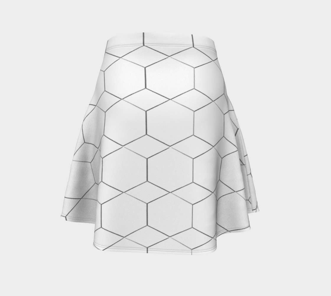 Honeycomb Diamond pattern Flare Skirt preview #4