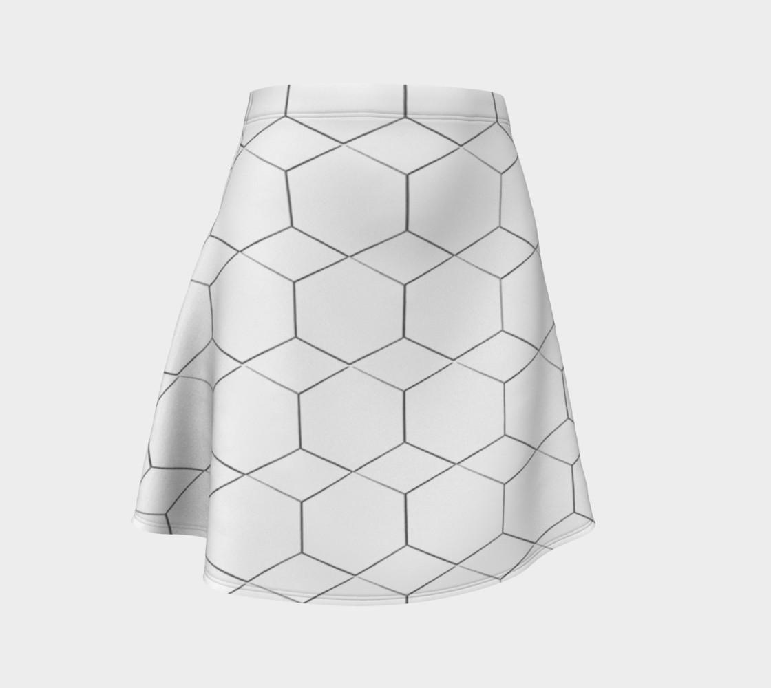 Honeycomb Diamond pattern Flare Skirt preview #1