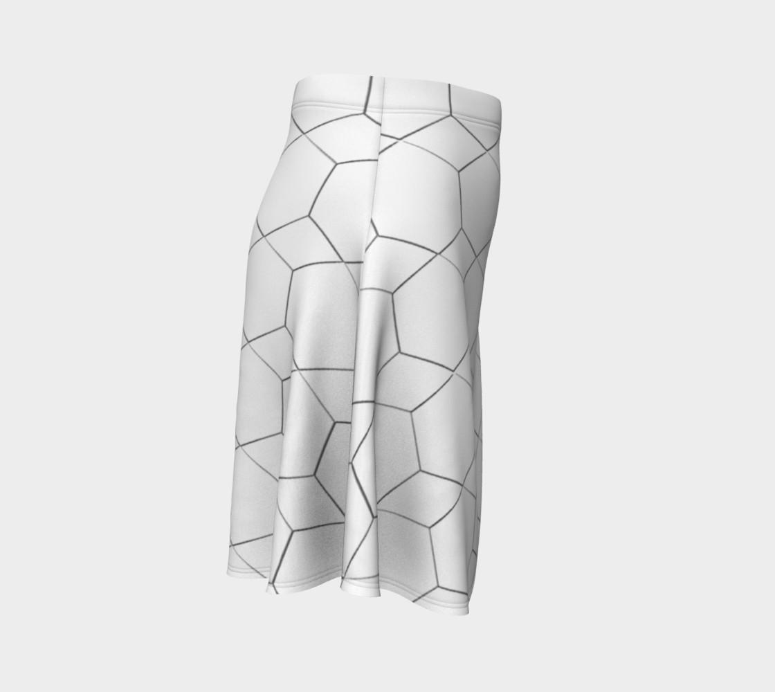 Honeycomb Diamond pattern Flare Skirt preview #3