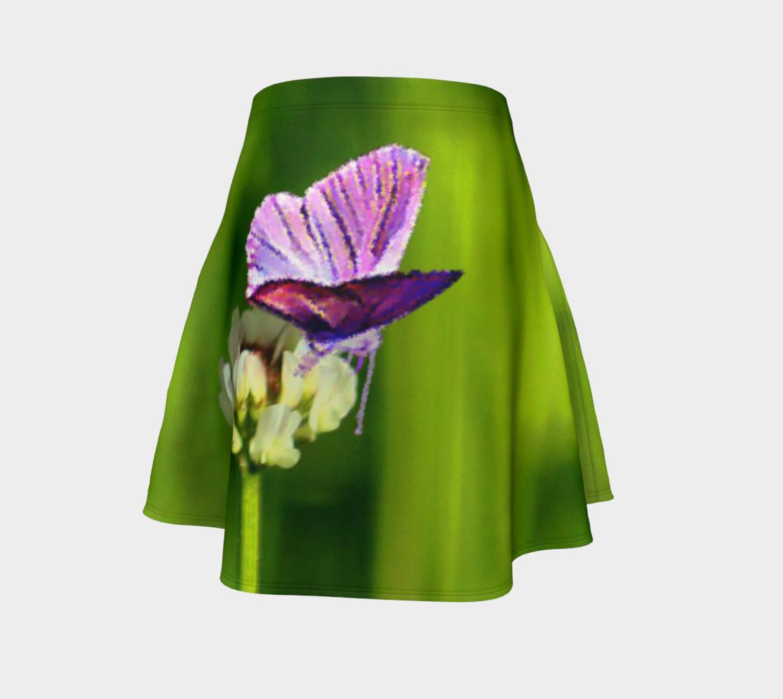 Aperçu de Butterfly on a Flower Skirt #4