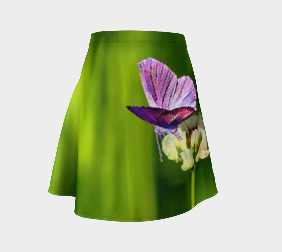Aperçu de Butterfly on a Flower Skirt #1