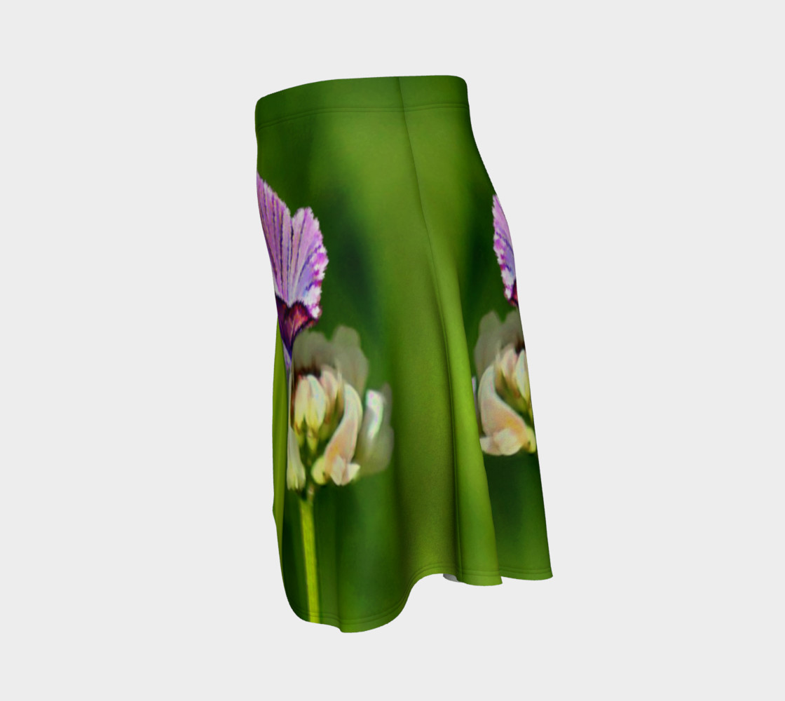 Aperçu de Butterfly on a Flower Skirt #2