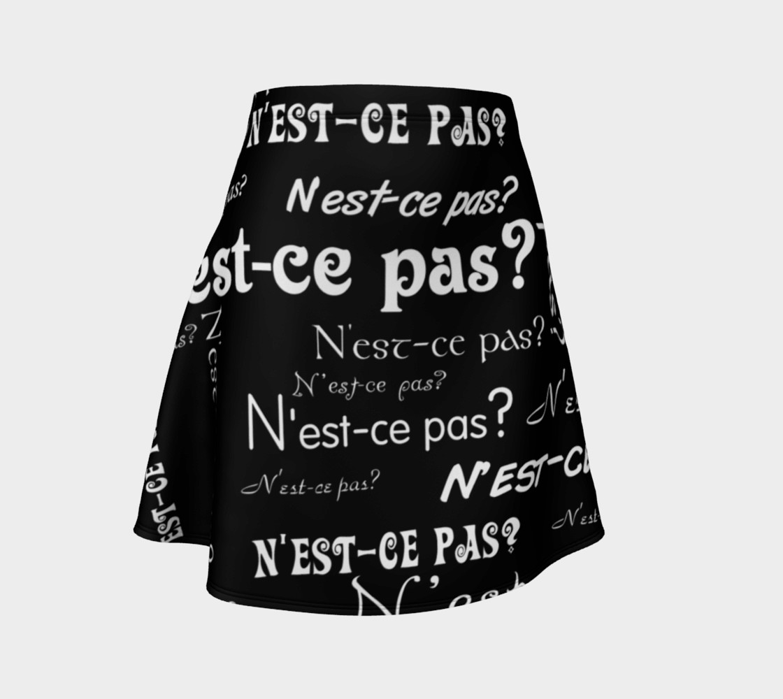 White N'est-ce Pas Flare Skirt preview #1