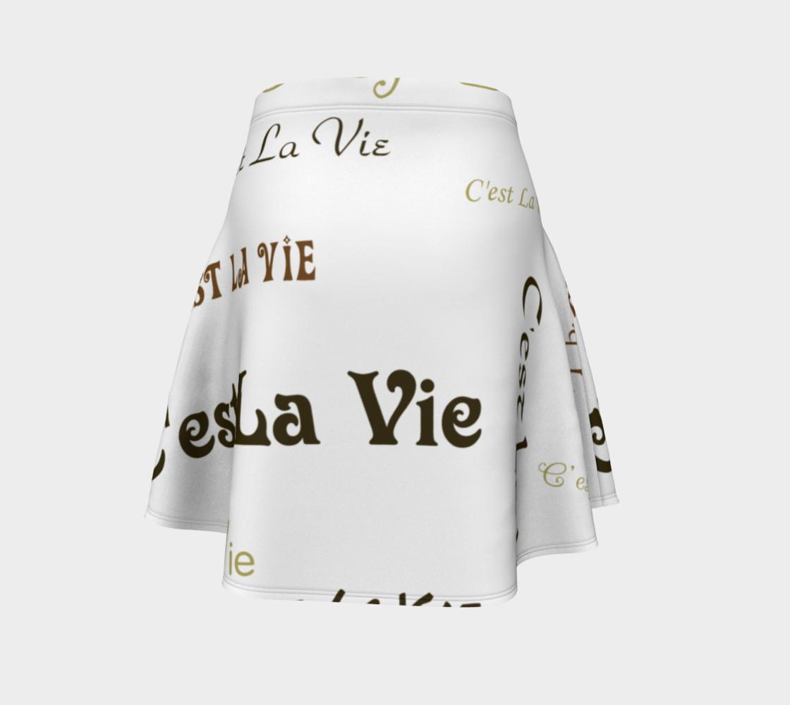 Mocha C'est la Vie Flare Skirt preview #4