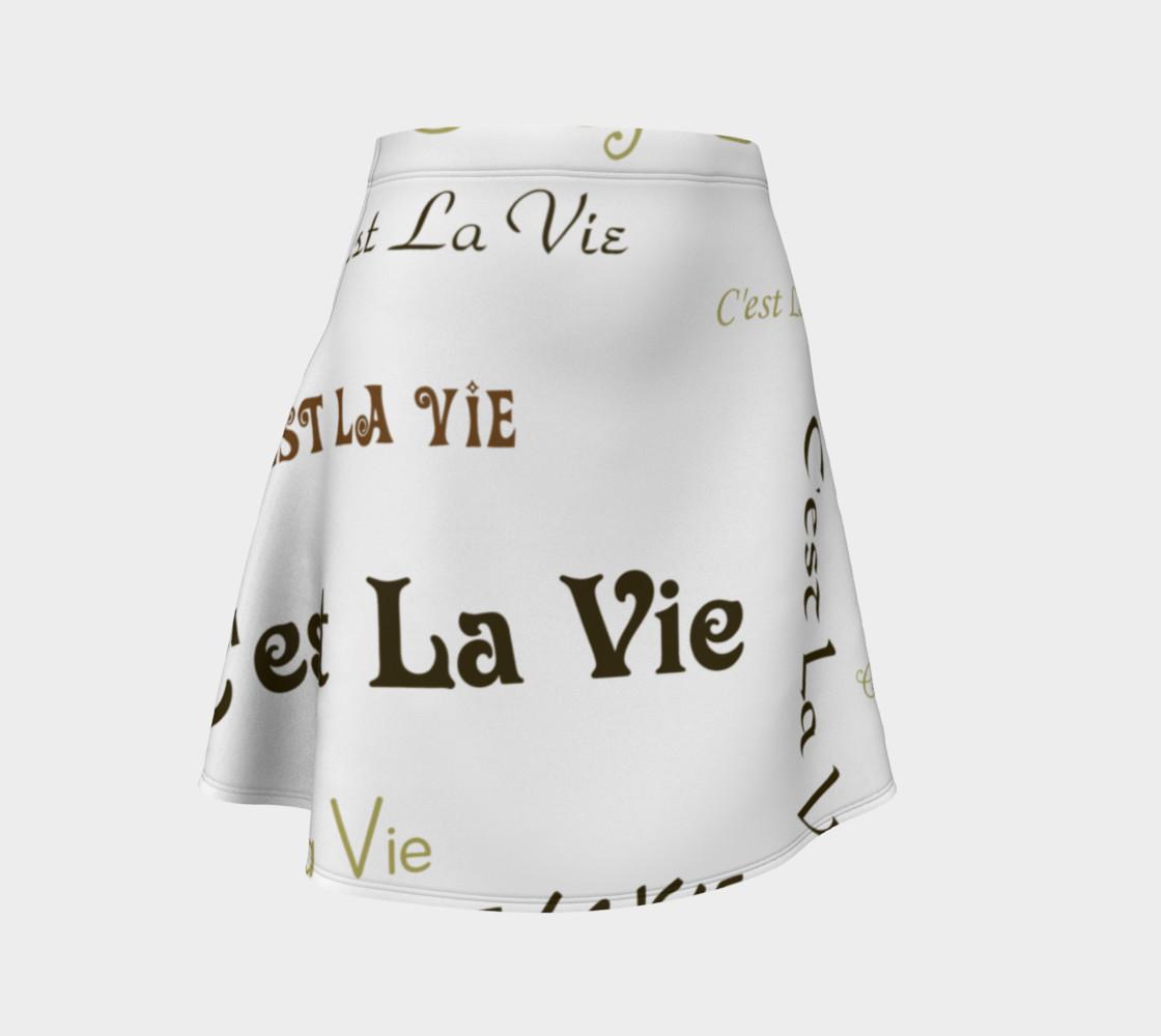Mocha C'est la Vie Flare Skirt preview #1