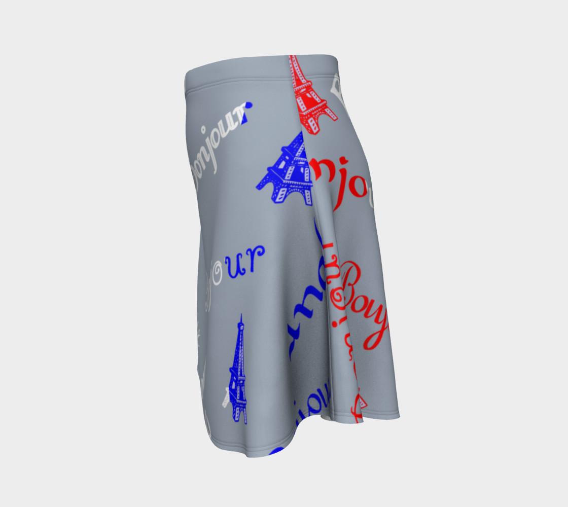 French Flag Bonjour Flare Skirt preview #2