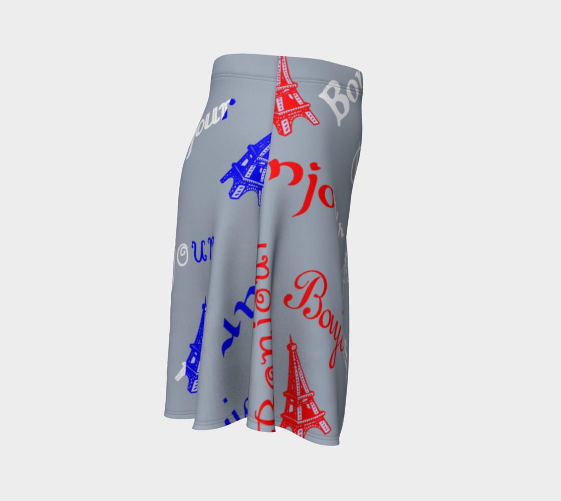 French Flag Bonjour Flare Skirt preview #3
