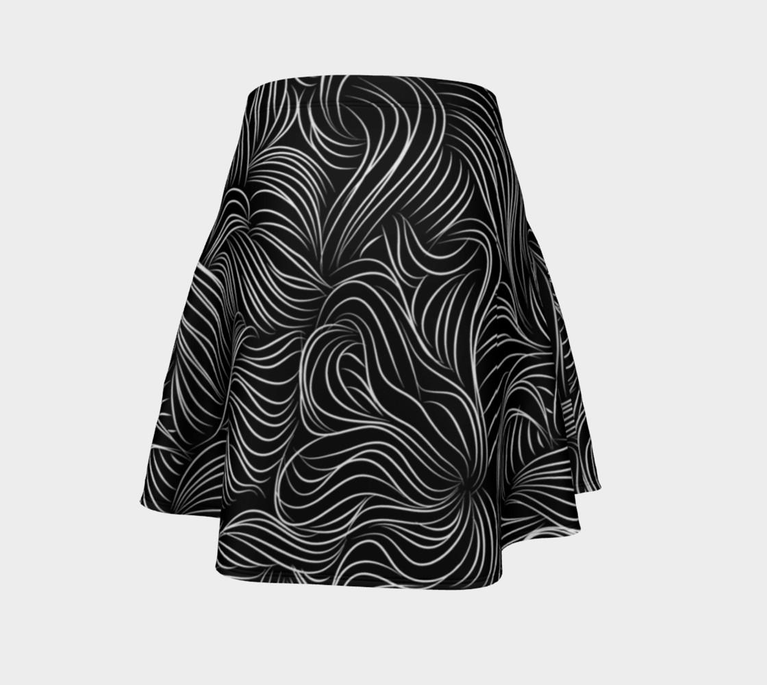 Black Flare Skirt preview #4