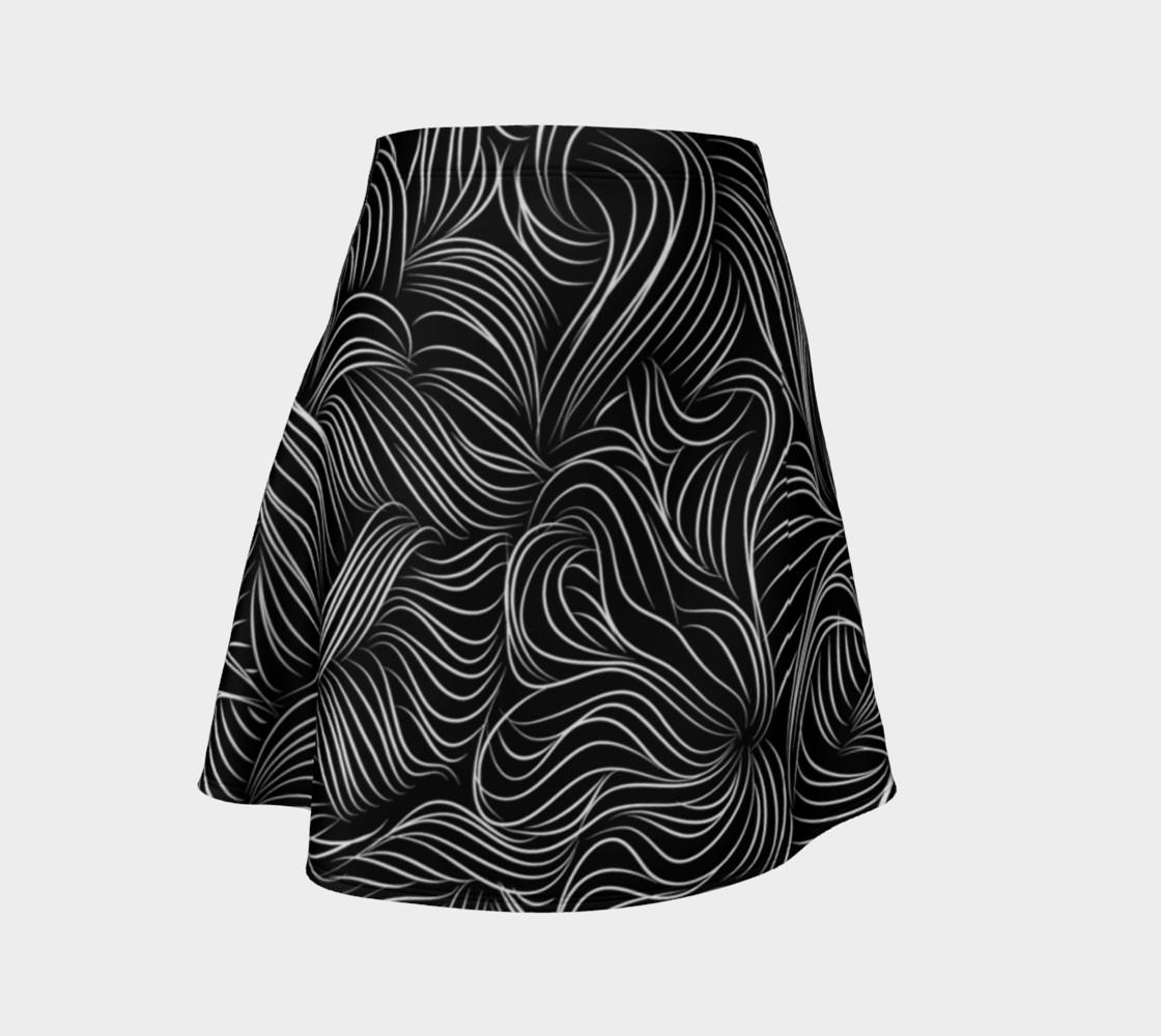 Black Flare Skirt preview #1