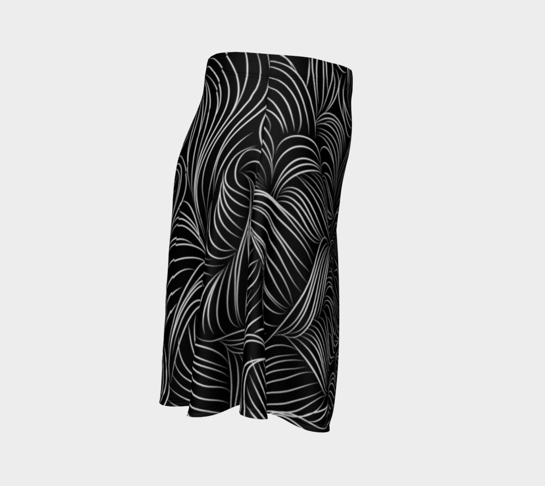 Black Flare Skirt preview #3
