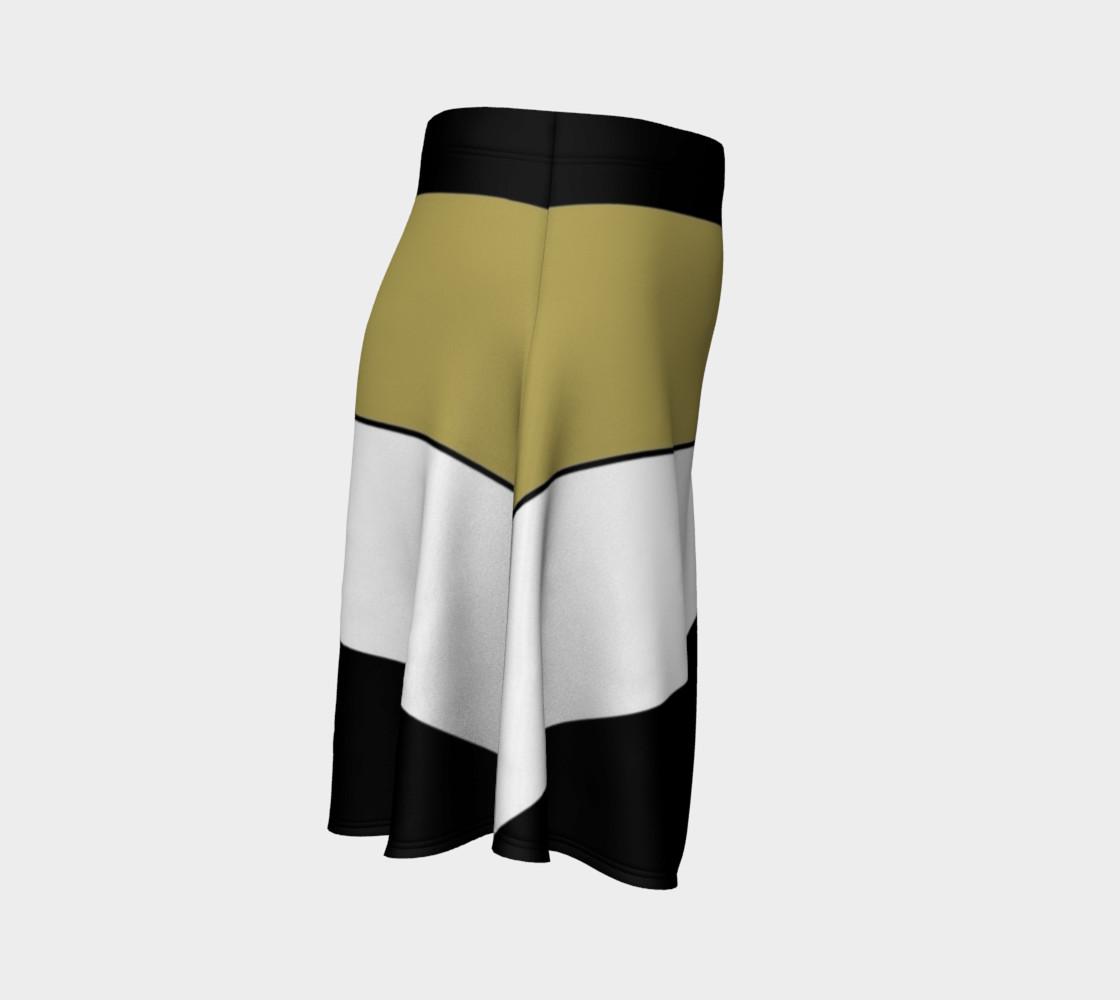 Elegant Black White Brown Gold Stripes Pattern preview #3