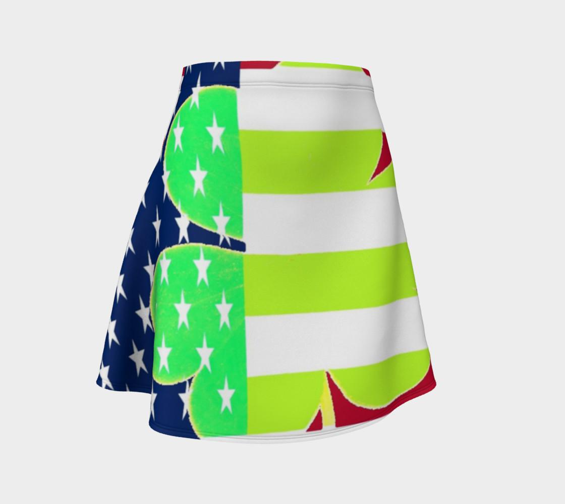Aperçu de St. Patrick's Day Irish Shamrock Clover American Flag Colors #1