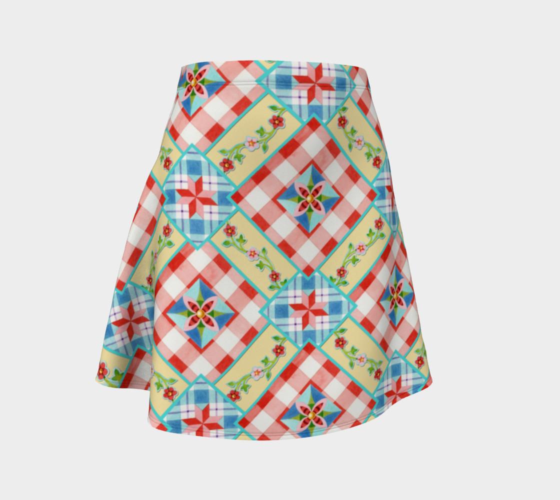 Aperçu de Cottage Chic Gingham Flare Skirt #1