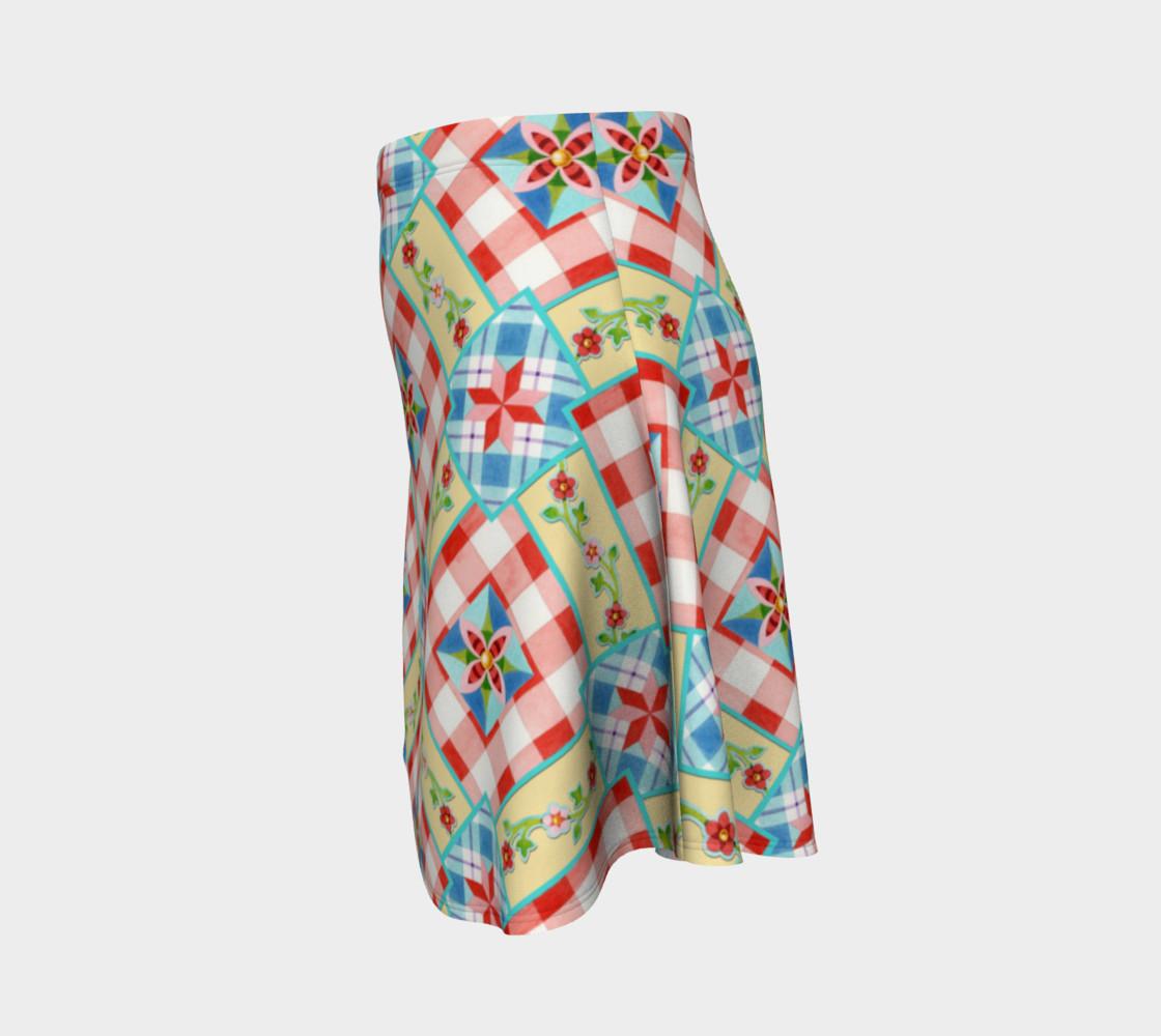 Aperçu de Cottage Chic Gingham Flare Skirt #2