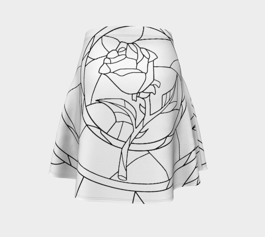 Aperçu de Stained Glass Rose White #4