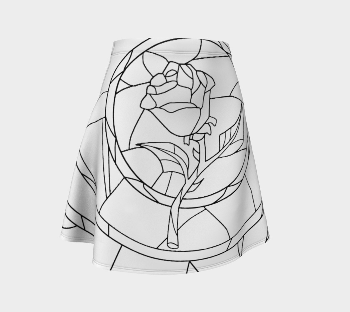 Aperçu 3D de Stained Glass Rose White