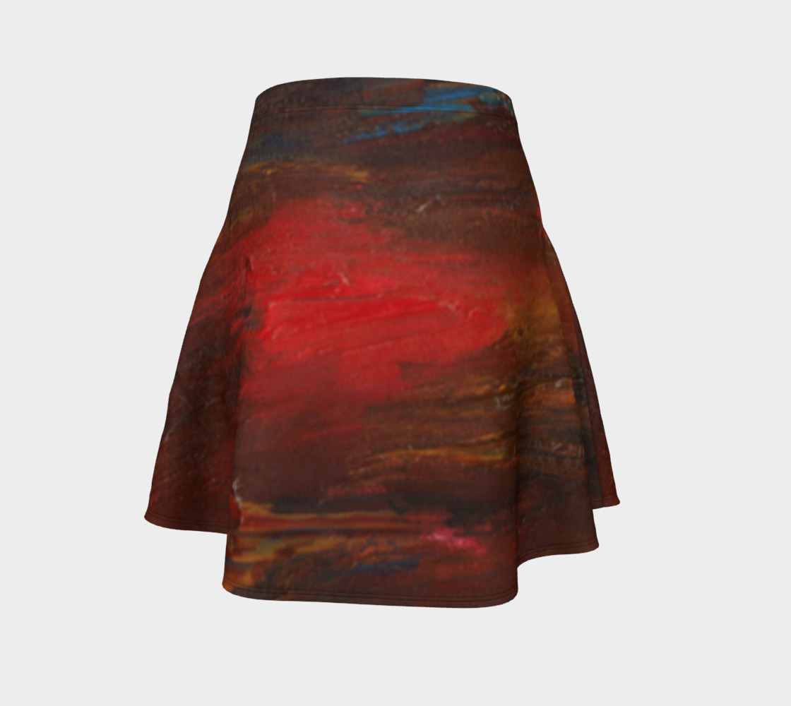 Crimson Ocean Flare Skirt preview #4