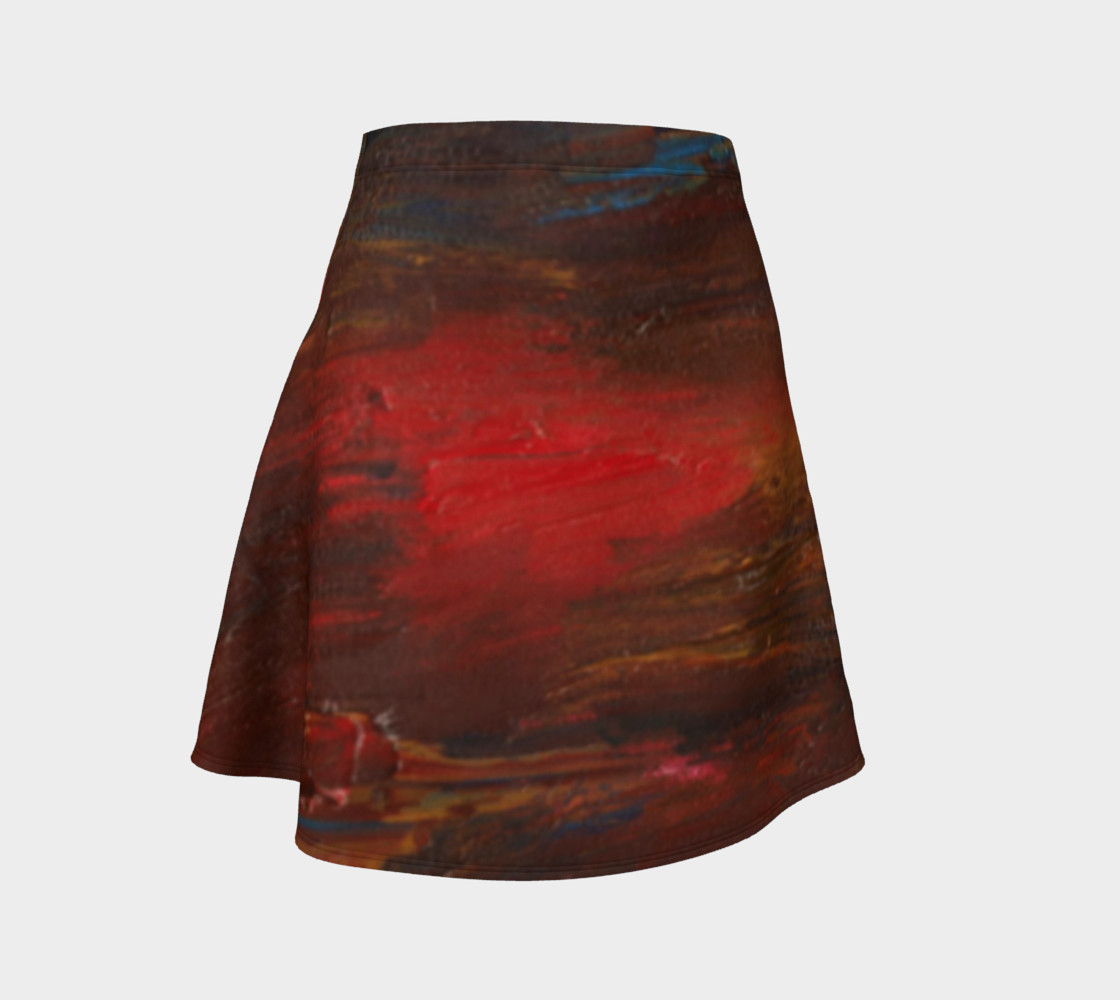 Crimson Ocean Flare Skirt preview #1