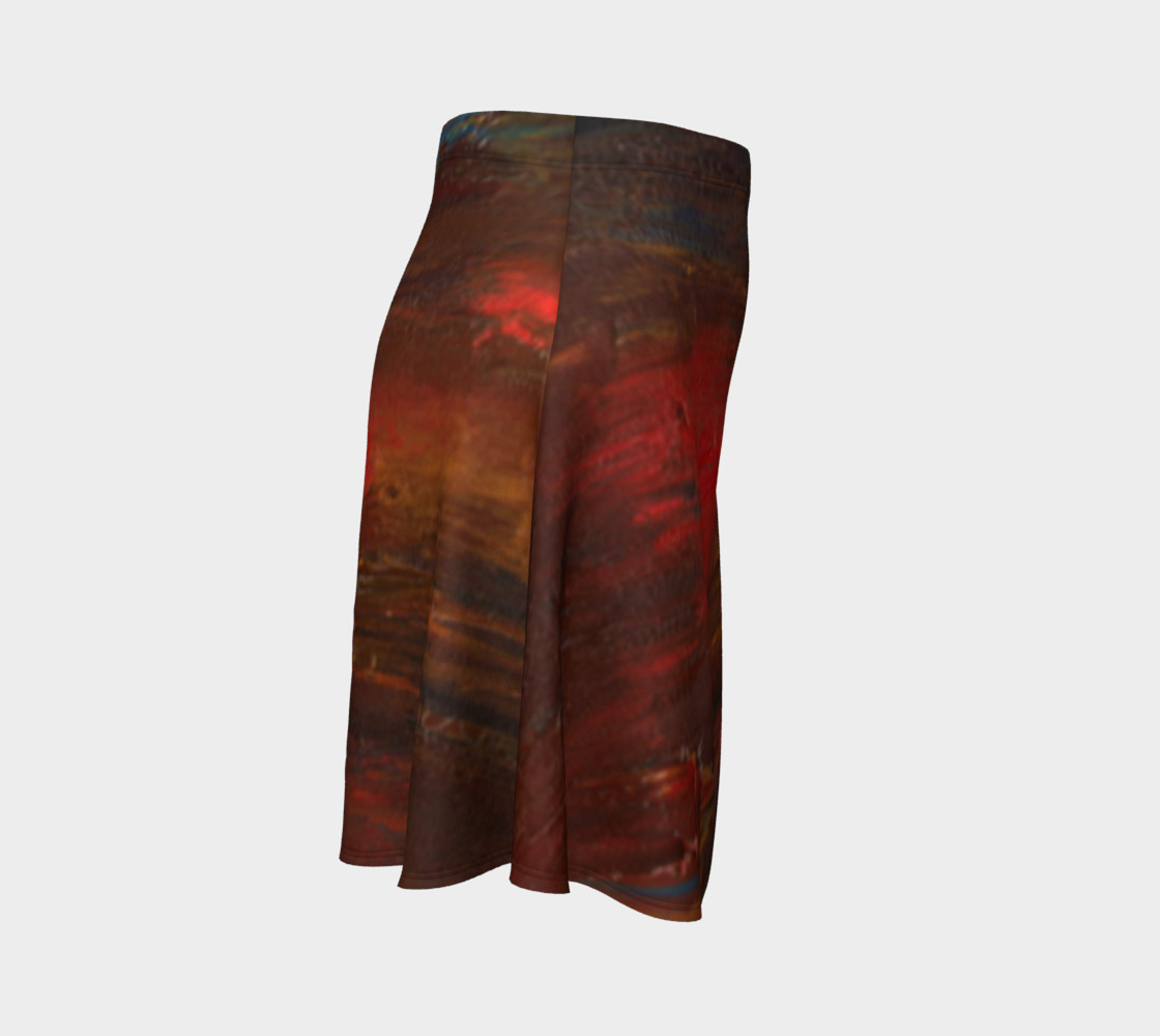 Crimson Ocean Flare Skirt preview #3