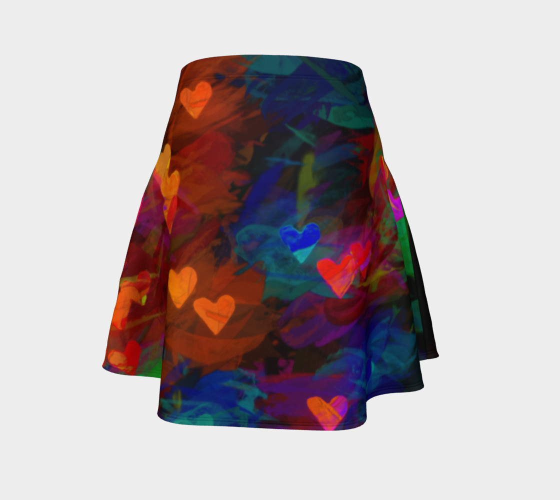 Wrapped in Painted Hearts Flare Skirt preview #4