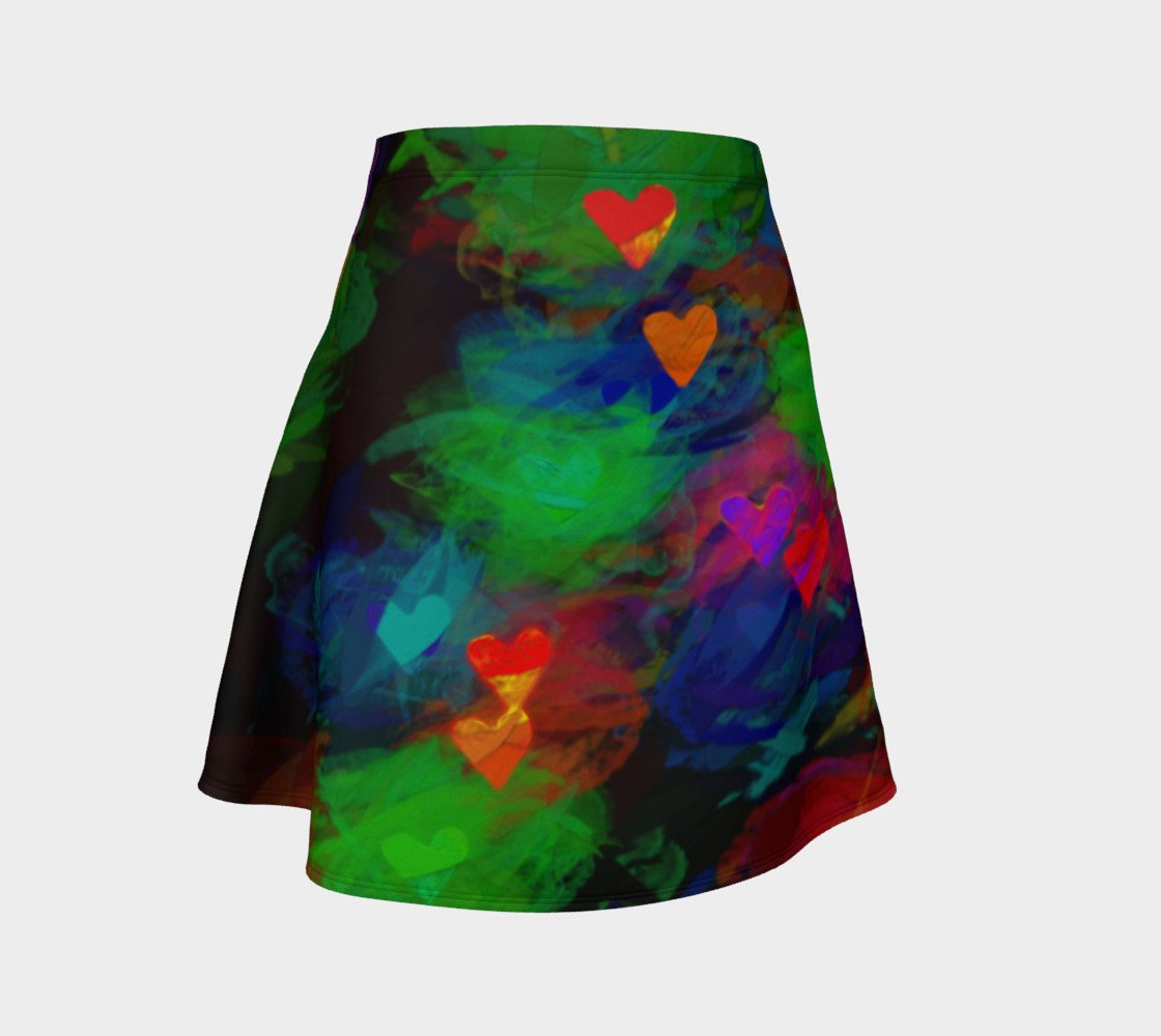 Wrapped in Painted Hearts Flare Skirt preview #1