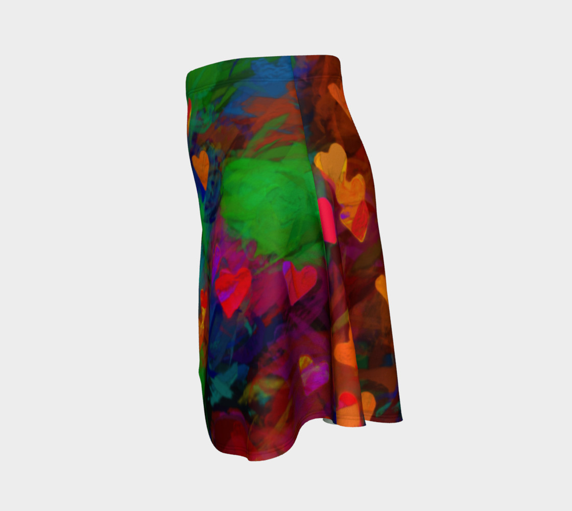 Wrapped in Painted Hearts Flare Skirt preview #2