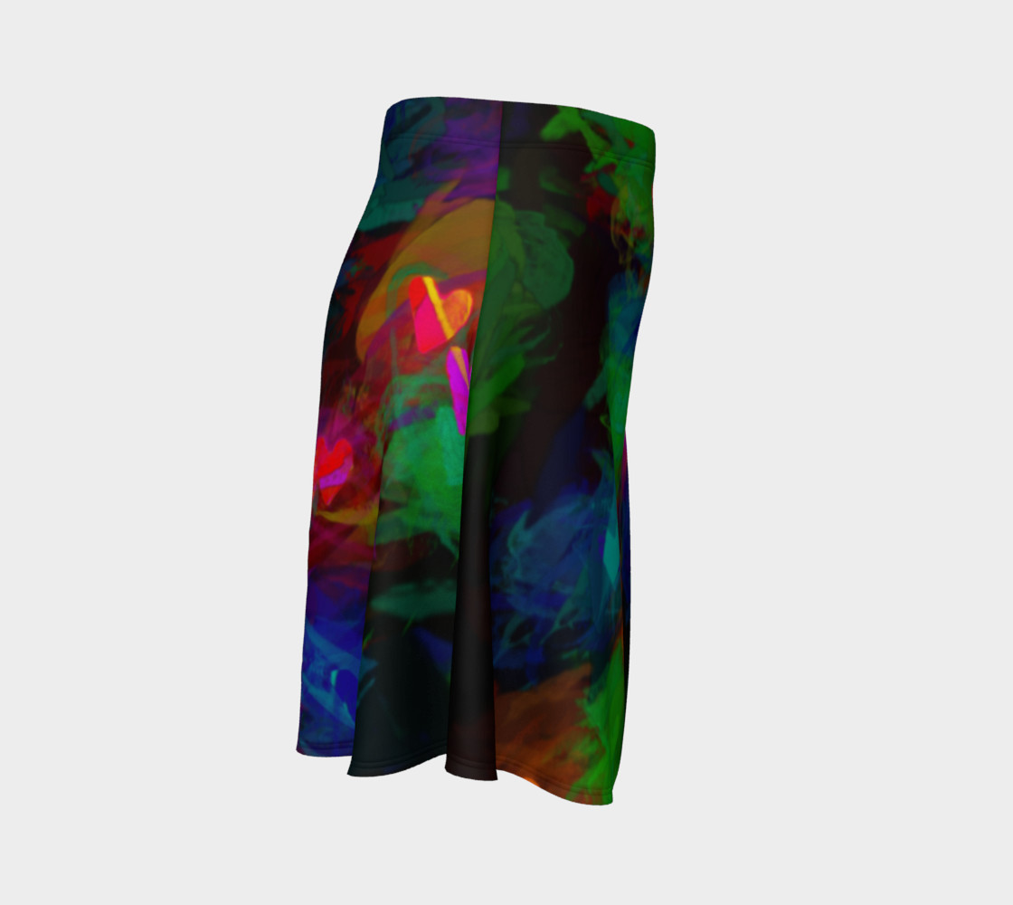 Wrapped in Painted Hearts Flare Skirt preview #3