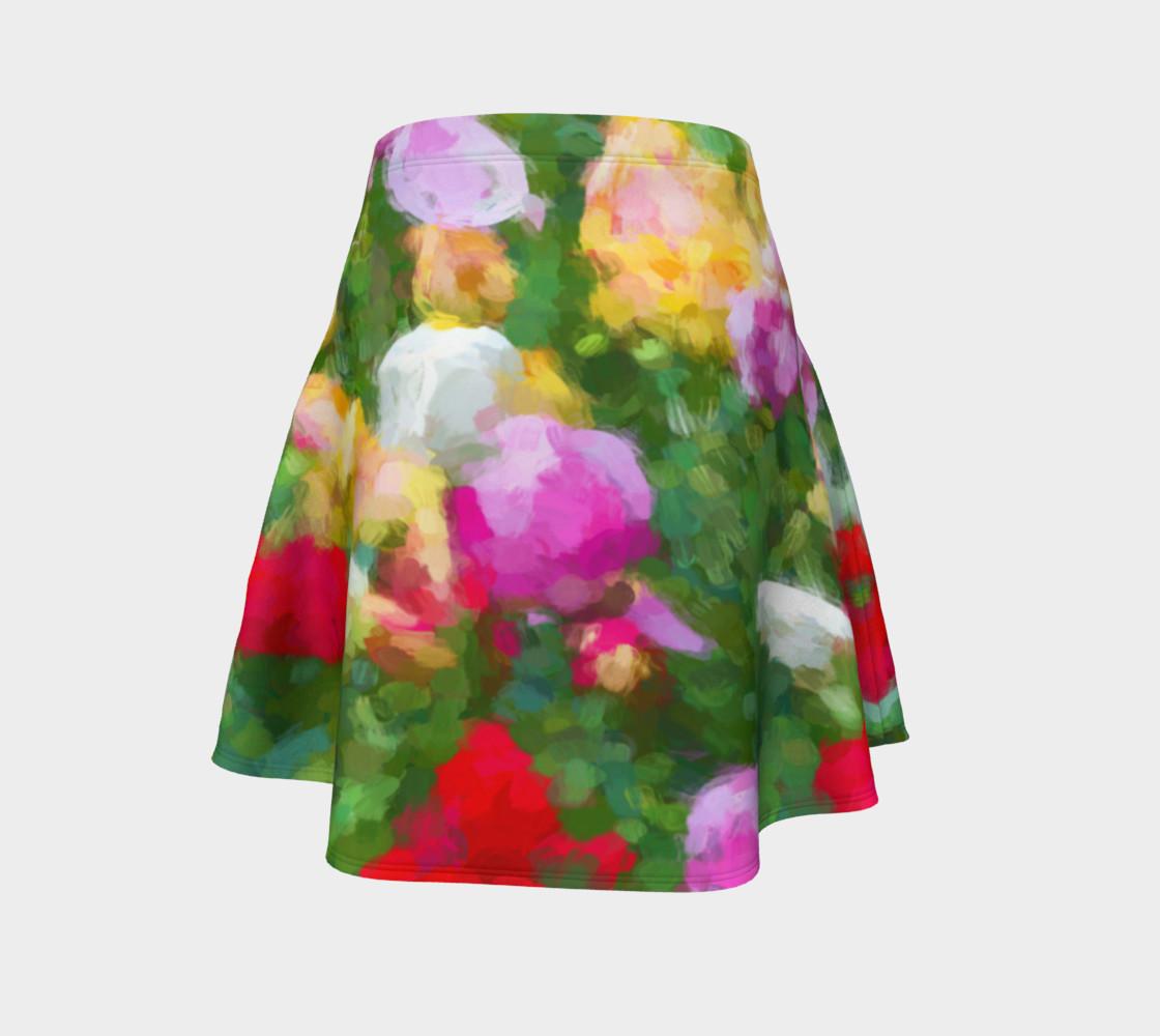 Aperçu de Painted Tulips Flare Skirt #4