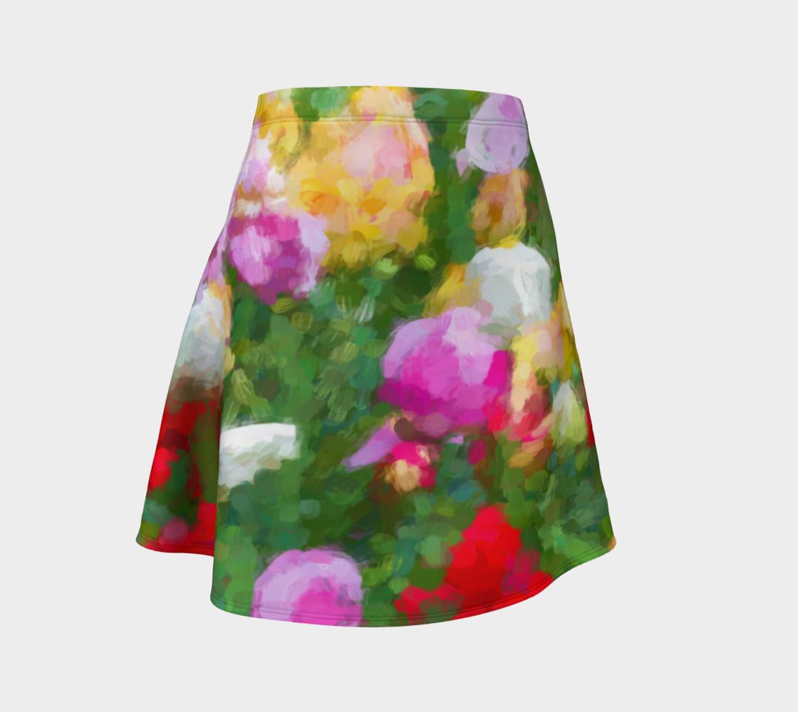 Aperçu de Painted Tulips Flare Skirt #1