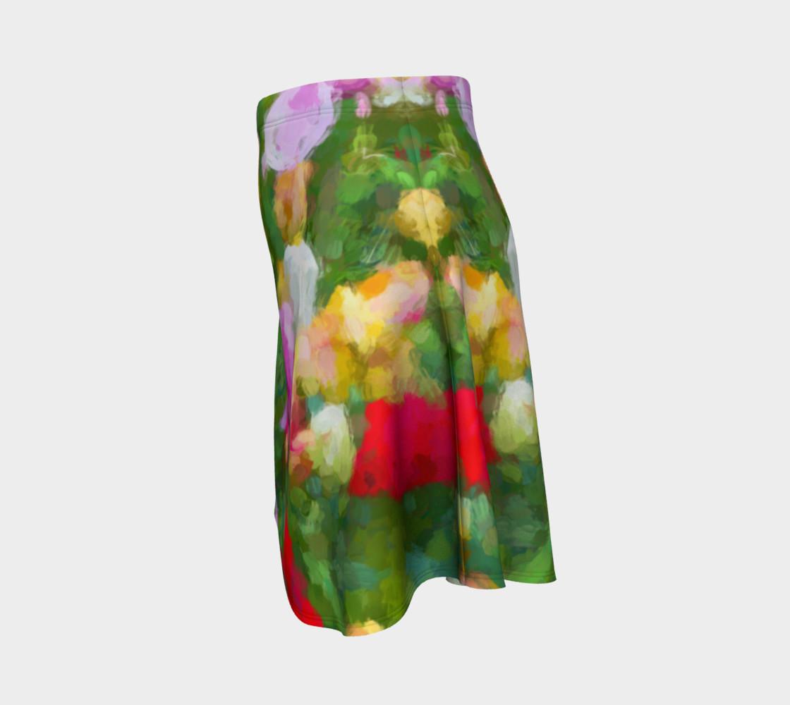 Aperçu de Painted Tulips Flare Skirt #2