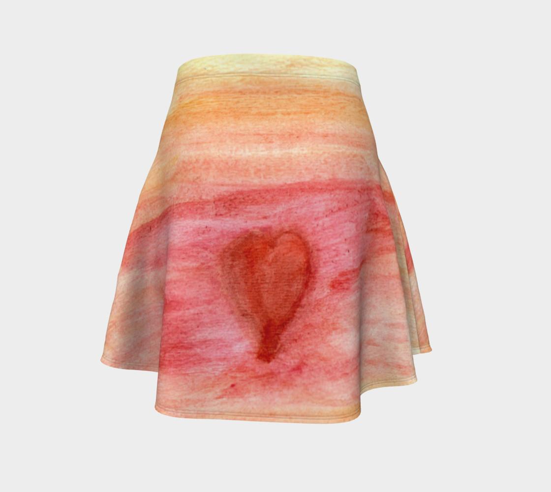 Radiating Heart Flare Skirt preview #4