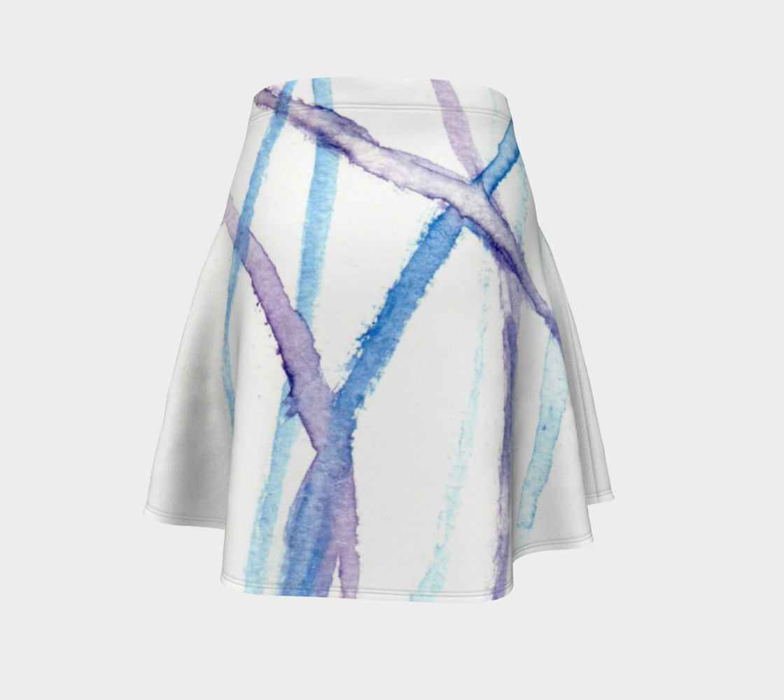 Lines Flare Skirt preview #4