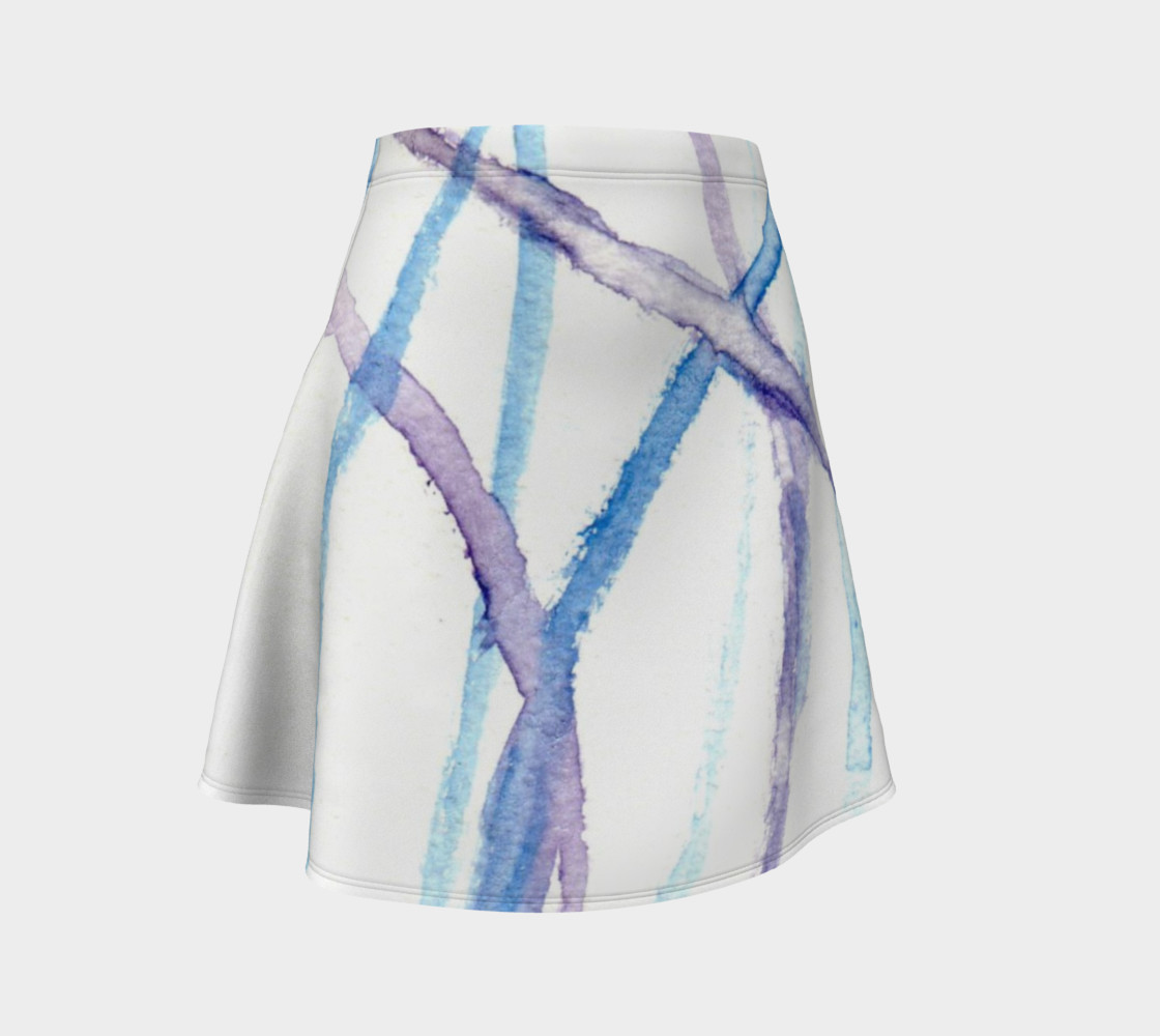 Lines Flare Skirt preview #1