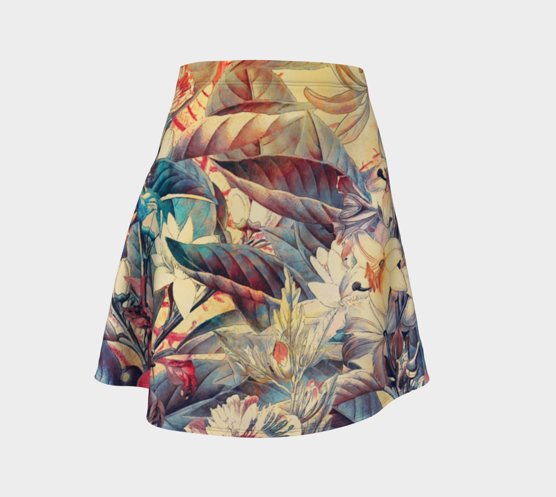 flare skirt flowers and fruits preview #1