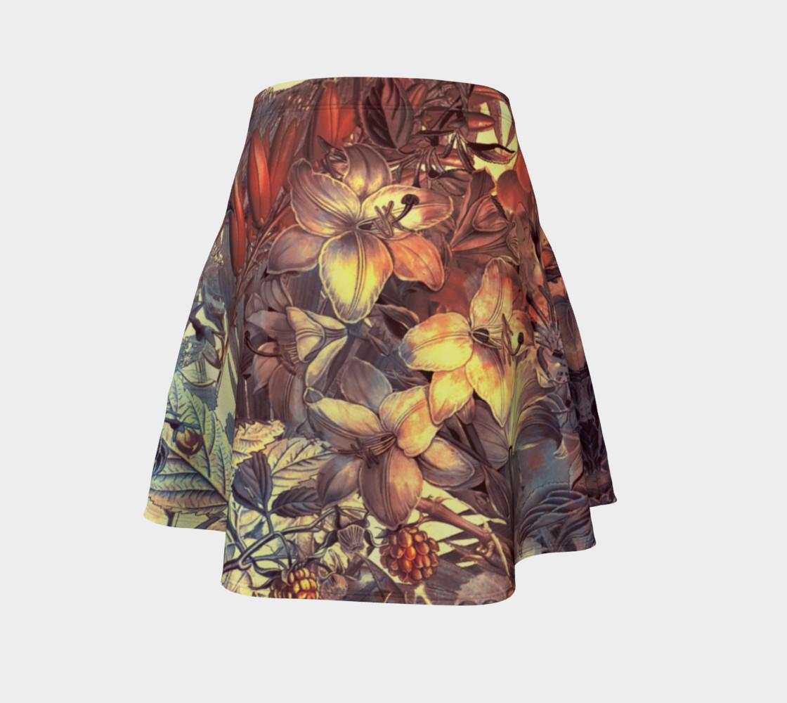 Aperçu de flare skirt flowers art #4