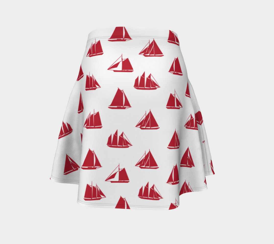 Sailboats - Red Boats on White Background preview #4