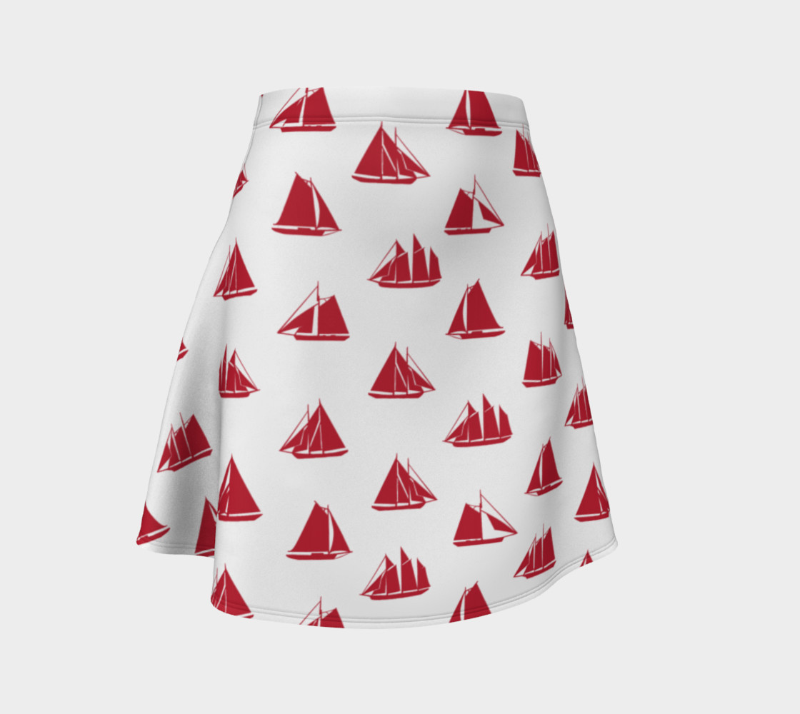 Sailboats - Red Boats on White Background preview #1