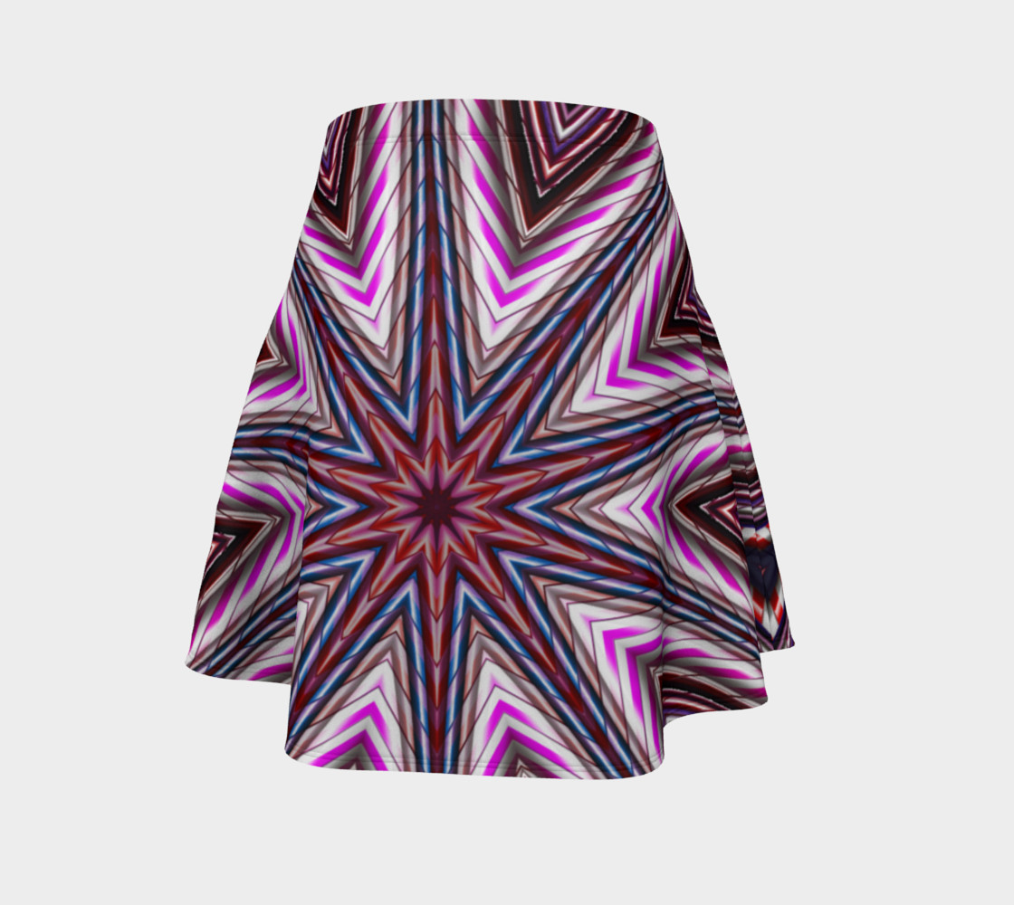 Candy Cane Kaleidoscope Flare Skirt preview #4