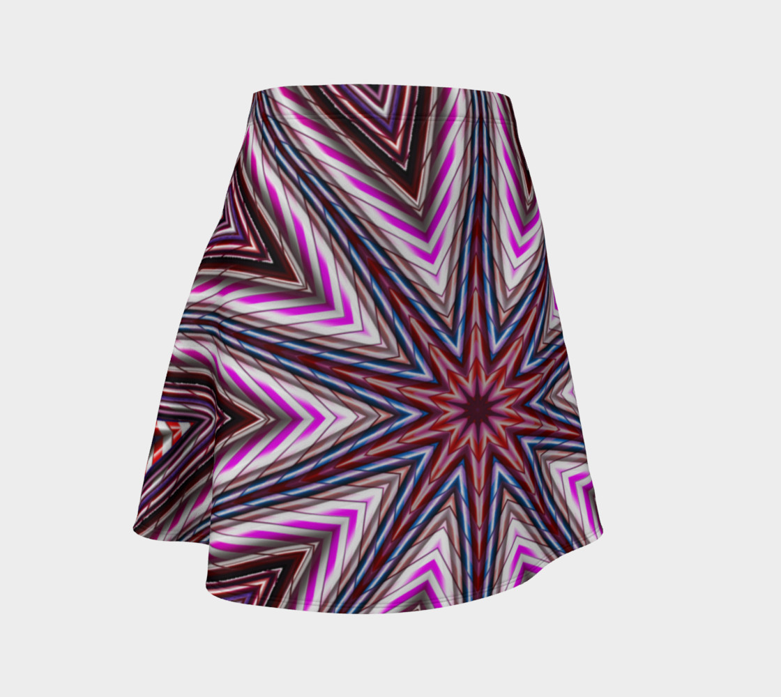 Candy Cane Kaleidoscope Flare Skirt preview #1